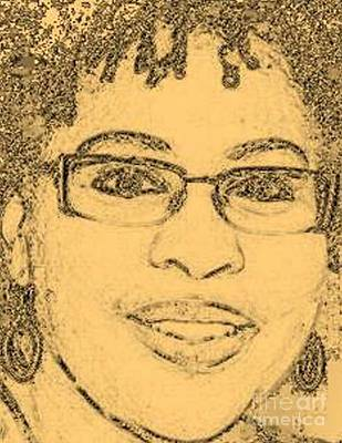 Photograph - Self-portrait Sketch I by Angela L Walker