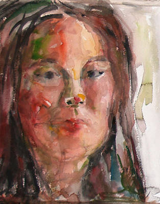 Painting - Self Portrait -studio 2 by Becky Kim