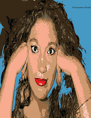 Digital Art - Self Portrait by Teri Schuster