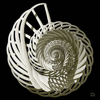 Self-referentially Braided Shell Art Print by Manny Lorenzo