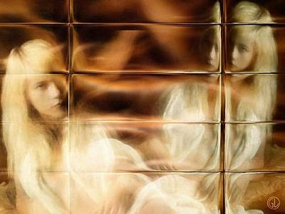 Thoughts Digital Art - Selfreflection by Gun Legler