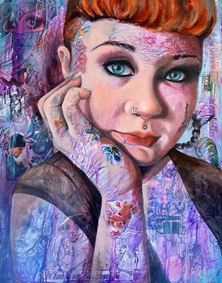 Purple Painting - Selina by Jami Childers