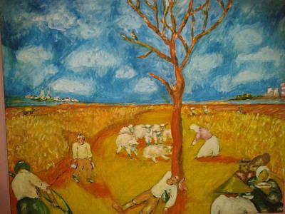 Painting - Seljaci by Lazar Caran