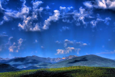 Seascapes Photograph - Selkirk Mountain Range by David Patterson