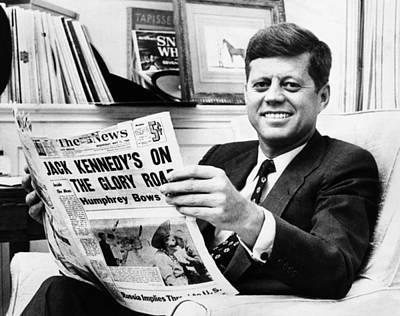 Sen. John Kennedy Becomes Art Print by Everett
