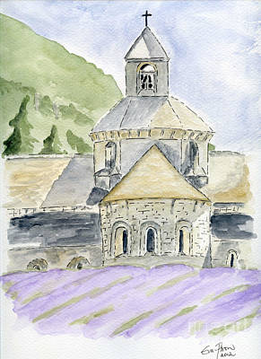 Painting - Senanque Abbey Provence by Eva Ason