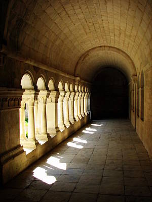 Photograph - Senaque Abbey Arched Aisle by Carla Parris