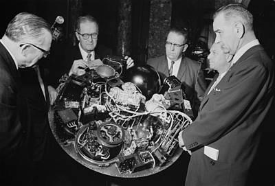 Lyndon Photograph - Senate Majority Leader Lyndon Johnson by Everett