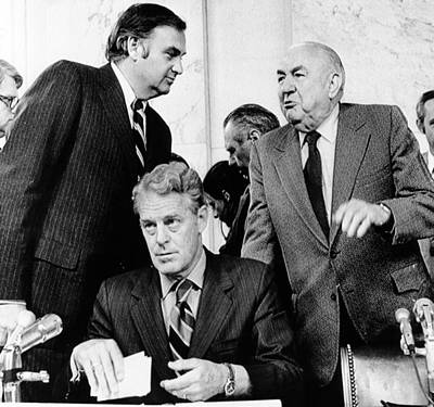 Senate Watergate Committee. Members Art Print by Everett