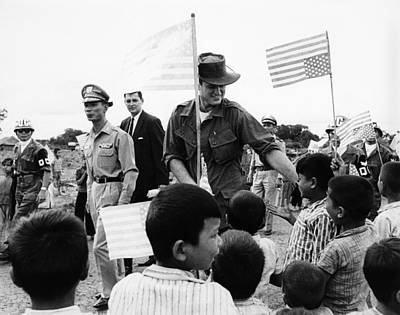 Senator Edward Kennedy, Touring Ban Me Art Print by Everett