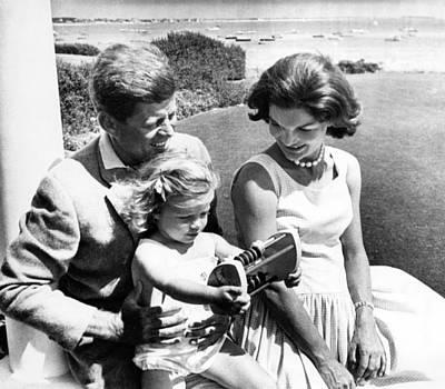 Senator John F. Kennedy, Caroline Art Print by Everett