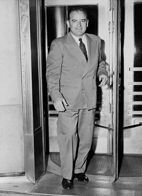 Senator Joseph Mccarthy, Leaving Art Print by Everett