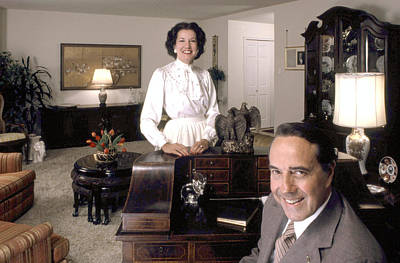 Dole Photograph - Senator Robert Dole And His Wife by Everett