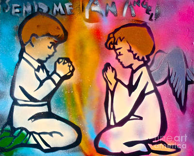 First Amendment Painting - Send Me An Angel 1 by Tony B Conscious