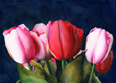 Painting - Sennelier Tulips by Ken Powers