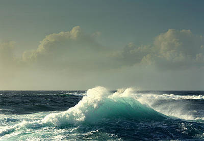Sennen Cove Photograph - Sennen Surf Seascape by Linsey Williams