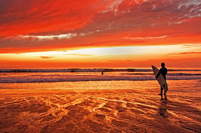 Photograph - Sensational Sunset Surf by Donna Pagakis