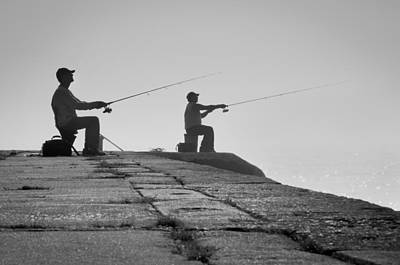 Photograph - Sentinels - Fishing In The Fog by Bill Pevlor