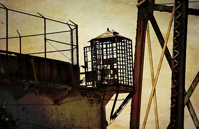 Prison Photograph - Sentry Box In Alcatraz by RicardMN Photography