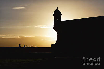 Garita Photograph - Sentry Post Silhouette by George Oze