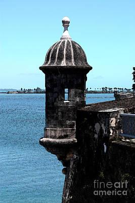 Sentry Tower Castillo San Felipe Del Morro Fortress San Juan Puerto Rico Fresco Art Print by Shawn O'Brien