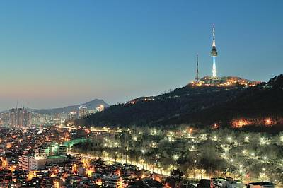 Seoul Tower At Night Art Print by Tokism
