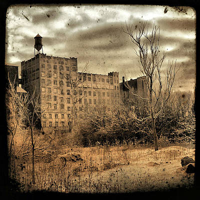 Sepia Cityscape Ruins Art Print by Gothicrow Images