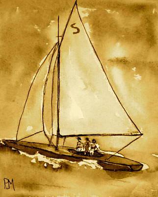 Sepia Seascape Original by Pete Maier