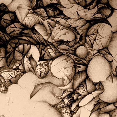 sepia VINTAGE BALLPOINT DETAIL Art Print