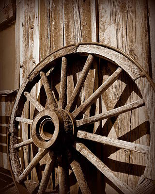 Photograph - Sepia Wheel by Cindy Wright