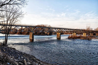 Septa Norristown High Speed Line Bridge Art Print by Bill Cannon