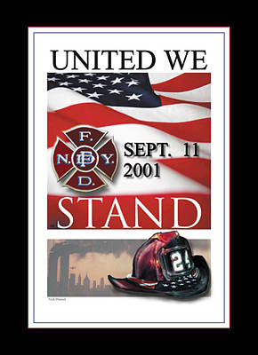 Fdny Digital Art - September 11 2001 by Nick Diemel