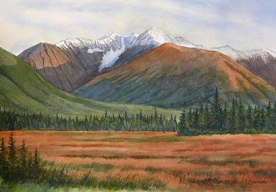 Moose Watercolor Painting - September In Glacier Valley by Sharon Freeman