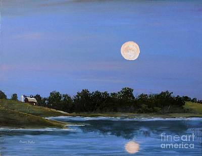 September Moon Art Print by Susan Fisher