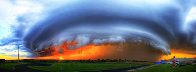 September Supercell Art Print by Evan Ludes