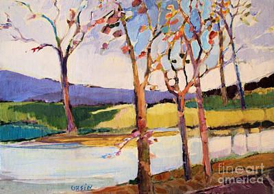 Painting - September Trees by Diane Ursin