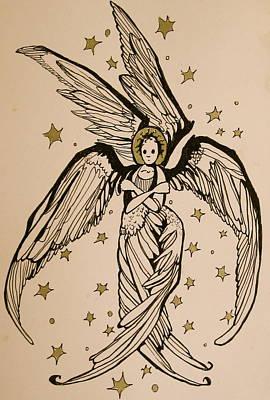 Drawing - Seraphim by Jackie Rock