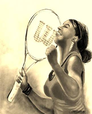 Serena In Sepia Art Print