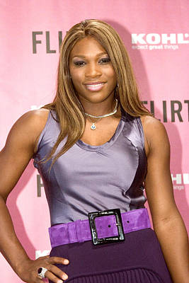 Serena Williams Photograph - Serena Williams At The Press Conference by Everett