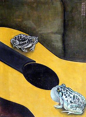 Chitarra Painting - Serenade With Guitar by Andrea Vandoni
