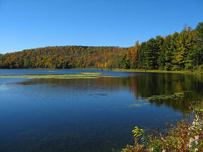 Photograph - Serene Lake In Fall by Leontine Vandermeer