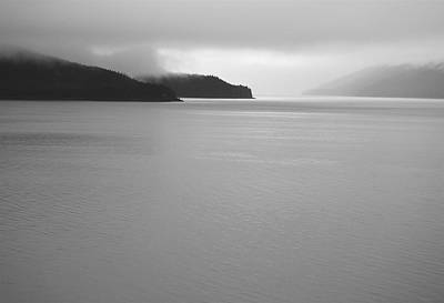 Alaskan Cruise Photograph - Serenity Bw by Michael Peychich