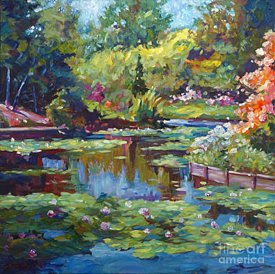 Painting - Serenity Pond by David Lloyd Glover