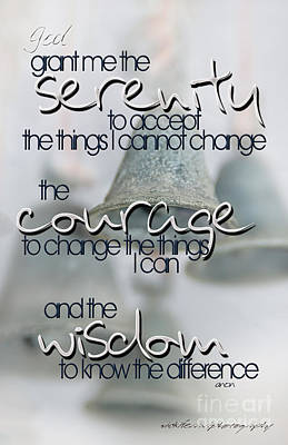 Photograph - Serenity Prayer With Bells by Vicki Ferrari