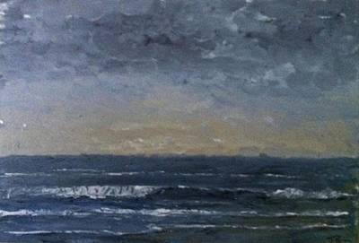 Incoming Tide Painting - Serenity  by Stephen Brewer