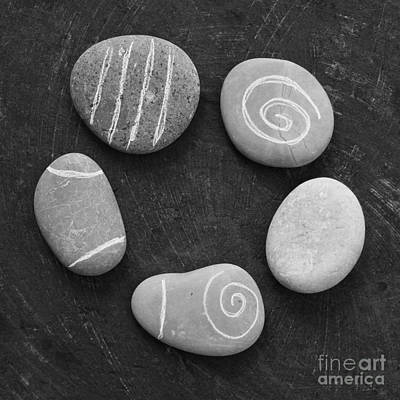 Black And White Images Photograph - Serenity Stones by Linda Woods