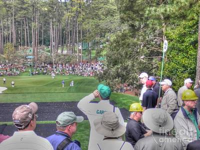 Masters Golf Photograph - Sergio Garcia At The Par Three Contest by David Bearden