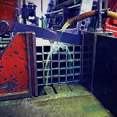 Machine Photograph - Serious Cutting. #machines #steel by Matthew Vasilescu