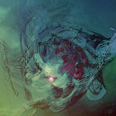 Serpent Head Print by Linda Sannuti