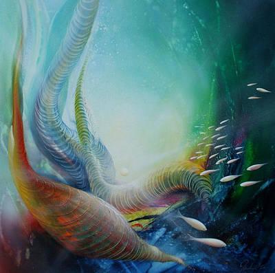 Macrocosm Painting - Serpula Spiralis by Drazen Pavlovic